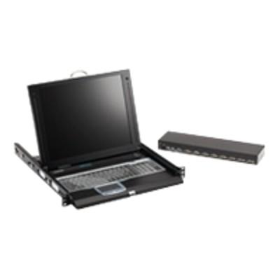 Black Box Kvt417a-8uv-r2 Servtray Complete Kvt417a - Kvm Console With Kvm Switch - 8 Ports - 17 - Rack-mountable - 1280 X 1024 - 450:1 - Vga - 1u