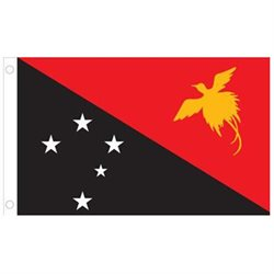 Papua New Guinea World Flag - 2' x 3' - Nylon