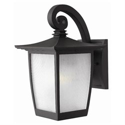 Pearl Small Outdoor Wall Lantern in Black with Energy Saving Option - Dark Sky Compliant/Energy Saving Option: No/Standard, Size: Large