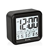 DreamSky Digital Alarm Clock With 3 Sets Alarm And Light Activated Night Light Features ,All In One Setting And Display - Day,Date ,Temperature , Hustle Free Battery Operated