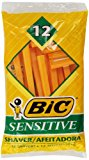 Bic Single Blade Shavers Sensitive Skin - 12 ct