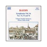 Joseph Haydn - Symphonies Vol. 16: Nos. 74 - 76 (Muller-Bruhl, Cologne CO) (Music CD)