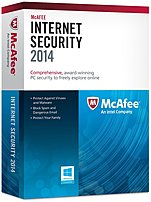 With the McAfee Internet Security 2014 stay safe from trojans, viruses, spyware, rootkits and more, with state of the art anti malware protection
