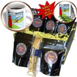 cgb_8319_1 Rich Diesslin KNOTS Scout Cartoons - Knots Jubilee - Kayaking in the Rain to the Waterfront or Campsite - Coffee Gift Baskets - Coffee Gift Basket