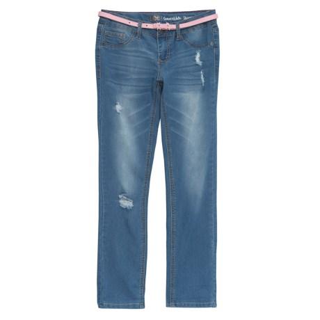 Belted Destructed Jeans (for Big Girls)