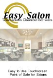 Salon Point of Sale Checkout Software; Inventory Management & Control, Touchscreen Point of Sale Checkout Salons and Spas; Software Only Windows Only CDROM