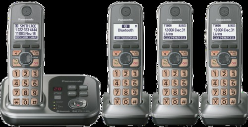 Panasonic Kx-tg294sk Link-to-cell Bluetooth Dect 6.0 Cordless Phone - 4 Handsets