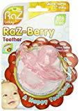 Razbaby Razberry Silicon Teether, Pink by Razbaby