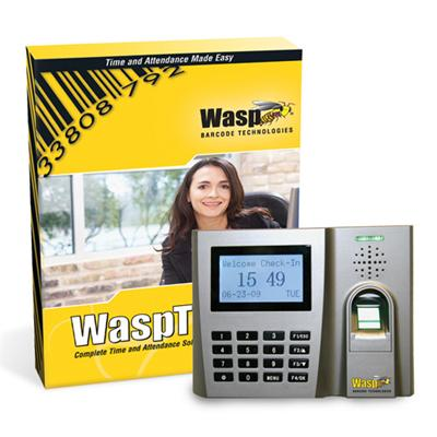 Wasp 633808550356 Time Standard Biometric Solution - (v. 7) - Box Pack - 1 Administrator  50 Employees - Cd - Win