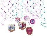 Disney Frozen Foil Swirl Birthday Party Decoration (12 Pack), Multi Color, .