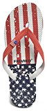 Fresko Men's Patriotic Flip Flop, Red/Blue (White Stars & Stripes), Size 11
