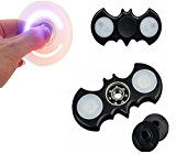 Auroralove Shiny Led Batman EDC Hand Spinner Fidget Toy for Anti-Anxiety Stress Reducer-Spins for up to 2-5 Minutes-Ceramic Bearing Focus Toy for Adult & Kids (LED Batman Black)