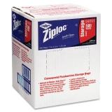 Drackett 94601 Double Zipper Bags Plastic 1qt Clear WriteOn ID Panel 500 Carton