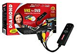 Diamond VC500 USB 2.0 One Touch VHS to DVD Video Capture Device with Easy to use Software, Convert, Edit and Save to Digital Files For Win7, Win8 and Win10