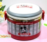 1L Disney Mickey Mouse Scotland Classic HANDLE Stainless Steel Thermal Insulated Lunch Box Food Container