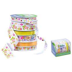 Bundle Monster Creative Scrapbooking Craft Decorative Ribbon Roll Mix Lot- Set 5