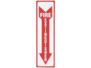 Headline Sign 4793 Glow In The Dark Sign, 4 x 13, Red Glow, Fire Extinguisher
