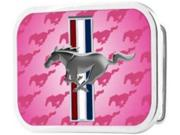 Pink Ford Mustang Belt Buckle
