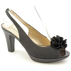 Karen Scott Bloom Womens Black Peep Toe Slingback Sandals Shoes