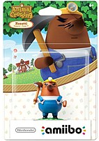 Nintendo Animal Crossing Series Nvlcajal Mr. Resetti Amiibo Figure - Wii U