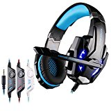 UNAKIM--Gaming Headphones with MIC Fashion LED Light Headset For 3.5mm jack PS4/Xbox One