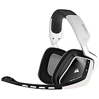"""b Comfort. Redefined.  b  br    br   Purpose built for marathon gaming sessions. Powered by microfiber and memory foam. Corsair Gaming VOID headsets feature """"true form"""" ear  cups that wrap your ears in luxurious comfort for extended play sessions.  br    br   2.4GHz wireless freedom up to 40 feet enables hassle free gaming for up to 16 hours. br   Genuine Dolby Headphone delivers lethally accurate 7.1 positional audio, and 50mm neodymium drivers produce staggering bass, scintillating highs, and towering dynamic range. br    br   Innovative new features like InfoMic and CUE Control enable you to command and control your gaming soundscape without hitting pause. br     p  b Legendary audio with zero hassle  b   p   p Genuine Dolby 7.1 multichannel enables a pinpoint accurate surround experience. Enjoy 2.4GHz wireless freedom up to 40 feet away from your PC, and up to 16 hours of uninterrupted gaming between charges.  p   p  b Unrivaled Comfort  b   p   p Purpose built for marathon gaming sessions and peerless comfort. Powered by microfiber and memory foam, the Corsair Gaming VOID Wireless headset features """"True Form"""" ear cups that wrap your ears in luxurious comfort for extended play sessions.  p   p  b Epic immersion and true multi channel audio  b   p   p Efficient 50mm neodymium drivers create staggering bass, scintillating highs, and towering dynamic range. Genuine Dolby Headphone surround delivers lethally accurate positional audio.  p   p  b Crystal clear voice communication  b   p   p The noise canceling microphone on the VOID Wireless RGB Headset puts your voice in the spotlight and nothing else.  p   p  b RGB Lighting under your command with CUE software  b   p   p Express yourself with 16.8 million color options to match your gear and your individual style. LEDs in each ear cup have fully adjustable power, pattern and color to provide anything from subtle and restrained, to eye grabbing intensity.  p   p The Corsair Utility Engine  or 'CUE'  enables all this,"""