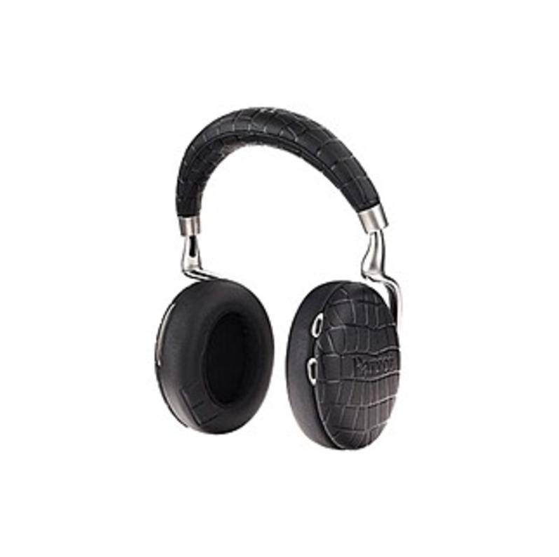 Parrot Zik Headset - Stereo - Black Croc - Mini-phone - Wired/wireless - Bluetooth - 20 Hz - 22 Khz - Over-the-head - Binaural - Circumaural - 4.27 Ft