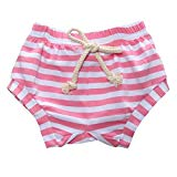 AMOUR TIME 3 Pack Toddler Baby Boys Girls Striped Shorts Little Kids Summer Bloomers (1pcs-Pink, 3T-4T)