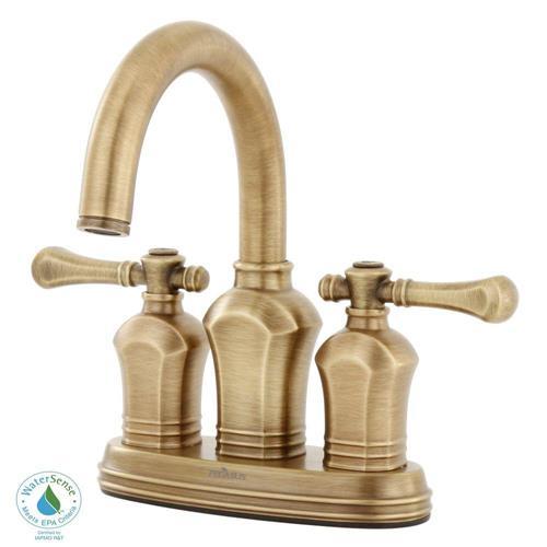 Xiamen Lota 67113-8024h Verdanza 4 In. 2-handle Bathroom Faucet In Antique Brass