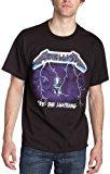 Bravado Men's Metallica- Ride Lightning T-Shirt,Black,Large