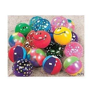 Mini Beach Inflatable Balls - 25 Count - 5