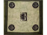 Heavy Tribal Tapestry Bedspead Coverlet Green Queen