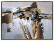 Concurrent  Framed Oil Painting
