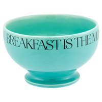 Footed Breakfast Bowl - Mint  By Indigo