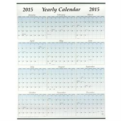 Full Year 2015 Wall Poster Calendar