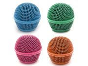 Seismic Audio - Sa-m30grille-bgop - 4 Pack Of Colored Replacement Steel Mesh Microphone Grill Heads - Compatible With Sa-m30, Shure Sm58, Shure Sv100 And Simila