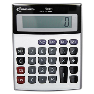 Innovera Ivr15927 15925 Portable Minidesk Calculator  8-digit Lcd