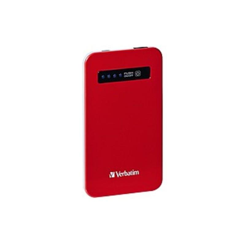 Verbatim Ultra-slim Power Pack, 4200mah - Red