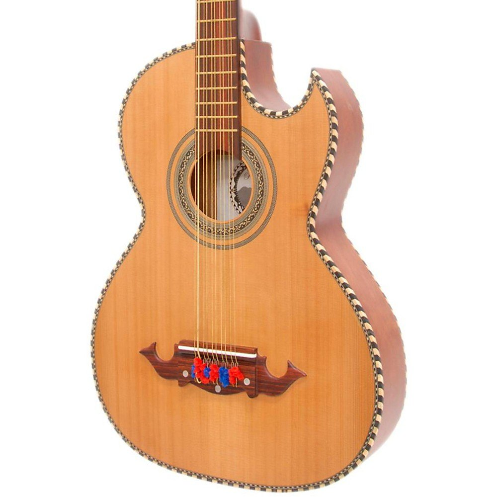 Paracho Elite Guitars Odessa-P 10 String Acoustic-Electric Bajo Quinto Level 2 Natural 190839247209