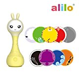 alilo Smarty Bunny Shake' n Rattle Musical Toy for Kid/Baby/Toddler with Color Identifier Yellow