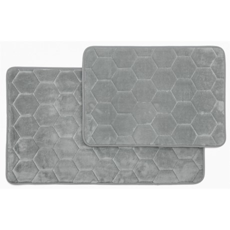 Honey Memory-foam Bath Rugs - Set Of 2
