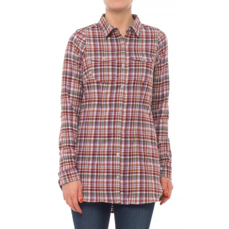 Lightfoot Flannel Tunic Shirt - Organic Cotton, Long Sleeve (for Women)