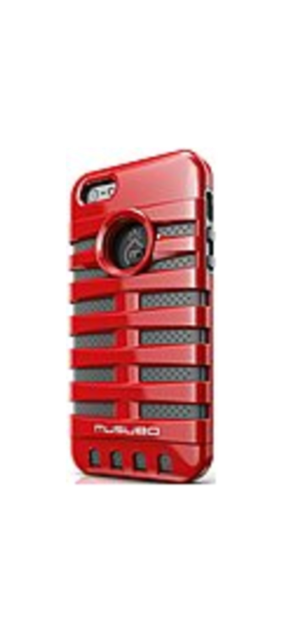 Smart It Musubo Retro Case For Iphone 5 - Iphone - Red - Silicone, Polycarbonate