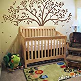 Larmai Vinyl Decal and Sticker for Women Men Monochromatic Tree Decal Homr Tree Baby Nursery 78H X 87W (Tree) Wall Quote Decal Gifts