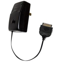 Emerge Retractable iPod Wall Outlet Power Charger (Black)