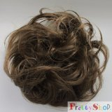 PRETTYSHOP Scrunchie Bun Up Do Hair piece Hair Ribbon Ponytail Extensions Wavy Curly or Messy Various Colors (brown 18)