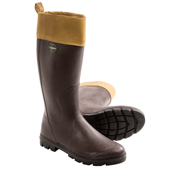 Le Chameau Anjou Rubber Boots - Tin Cloth (For Men)