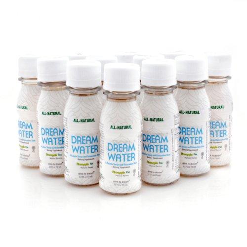 Dream Water Natural Sleep Aid Pineapple Flavor 12 Bottle Pack