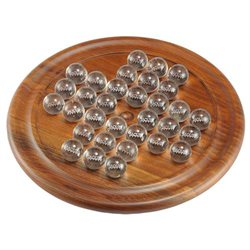 Black Walnut Marble Solitaire Game