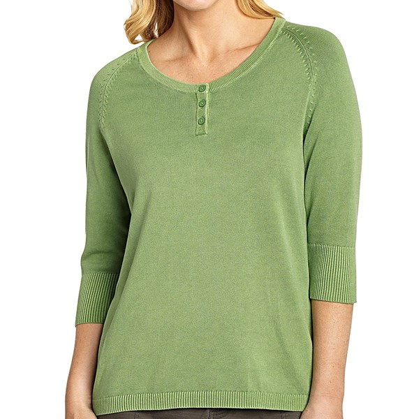 Woolrich First Forks Henley Sweater - 3/4 Sleeve (for Women)